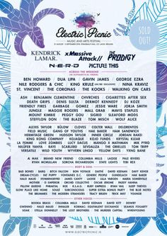 All about Electric Picnic and all the best music festivals around the world, including news, lineups, locations and tickets! European Festivals, Festivals Around The World, Music Festivals, Concert Posters, Good Music, Picnic, Electric, Branding, Website