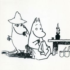 Moomins - black & white | Flickr - Photo Sharing!