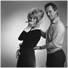 Portrait of Catherine Deneuve and Walter Carone photographer, 1963
