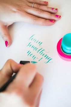 Happy National Handwriting Day! - The Glue String | The Glue String {I want to get into caliigraphy -dj}