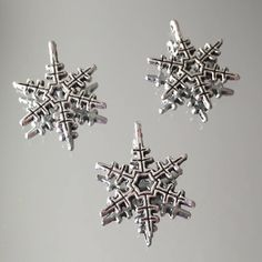2 xGold//silver diamante Rhinestone Alloy Snowflake Cabochons//Frozen//phones//craft