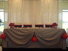 Lighted Backdrop  #yyceventrentals #wedding www.greateventsrentals.com