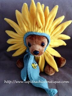 Black Eyed Susan or Sunflower Hat Dog Costume for Small Dog Great for  Photo Op. $52.00, via Etsy.