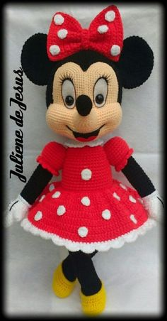 Best 12 Minnie Mouse Crochet pattern – Disney crochet pattern – Amigurumi Knitting Toy PDF pattern – Mouse toys for kids – Amigurumi Disney – SkillOfKing. Disney Crochet Patterns, Crochet Animal Patterns, Stuffed Animal Patterns, Crochet Animals, Crochet Eyes, Crochet Baby Hats, Cute Crochet, Crochet Beanie, Irish Crochet