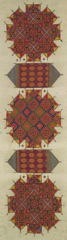 Moroccan embroidered panel