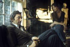 Serge Gainsbourg & Jane Birkin  Rue de Verneuil 1974  (c) Claude Gassian