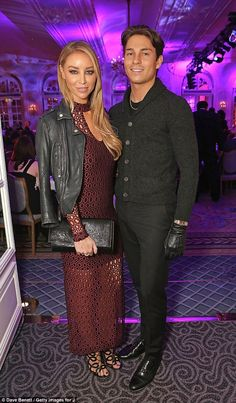 Coordinated: Lauren matched Joey with her leather accessories as they cosied up inside the bash Joey Essex, Lauren Pope, Open Weave, Crochet Fashion, Leather Accessories, Looking Gorgeous, Fashion Inspiration, Curves, Awards