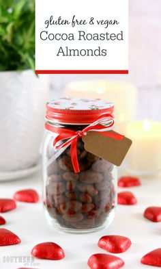A healthy chocolate treat that makes the perfect homemade gift idea for Christmas or Valentine's Day, this Healthy Cocoa Roasted Almonds Recipe is gluten free, vegan, refined sugar free, grain free, clean eating friendly and has paleo, keto and low carb options so everyone can enjoy them. Chocolate covered almonds have never been healthier or easier to make!