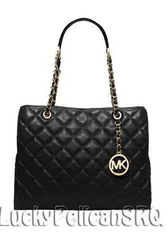 Michael Kors Susannah Large Tote Bag Handbag Black NWT #MichaelKors #TotesShoppers