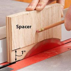 Cut perfect grooves & rabbets without a dado set: First, cut a spacer