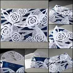 If you have an appreciation for art and love a creation that combines detailing and advanced techniques, then you'll definitely adore this design that features our flawless laser cutting pattern combined with our striking paper stock. Pocket Invitation, Laser Cut Invitation, Laser Cut Wedding Invitations, Wedding Wraps, Floral Theme, Laser Cutting, Twine, Rustic Wedding, Appreciation
