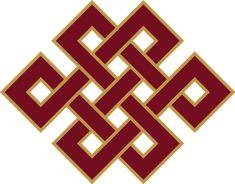 auspicious knot = buddha's heart, universal compassion, awakened mind