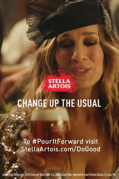 Carrie couldn't help but wonder...if enjoying Stella Artois can help give access to clean water to someone who needs it, why choose anything else?  Whether you're at the bar or hosting an impromptu soiree at home, it's never been easier to be like Carrie, change up the usual and do good. #PourItForward