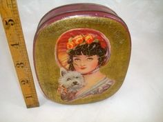 Oval Dainty Dinah Horners Toffee Tin c1930s (06/14/2011)