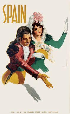 Spanish tourism poster. 1940s   http://www.vintagevenus.com.au/products/vintage_poster_print-tv727