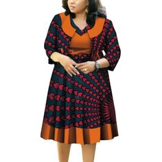 Material: 100% COTTONSeason: SummerStyle: CasualPattern Type: PrintDresses Length: Knee-Length African Dresses Plus Size, African Dresses For Kids, Latest African Fashion Dresses, African Dresses For Women, African Print Fashion, African Attire, African Women, African Tops, Ankara Fashion