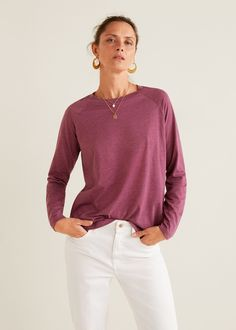Organic cotton t-shirt - Women. Tops De MujeresMangas LargasOtoño InviernoRopaCamisetasTrajes  ... a08cd8dad53a
