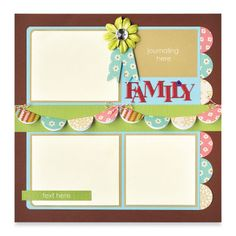"""Family"" Page Layout by Fiskars®"