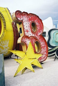 The Neon Museum (Las Vegas, NV) I wanna go do a wedding shoot here....maybe me and j?!?