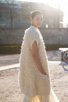Paris fashion week - cosy knit