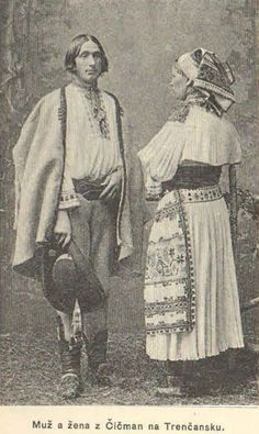 #Čičmany #Považie #Slovensko #Словакия #Slovakia Folk Costume, Costumes, Eastern Europe, Old Photos, Statue, Painting, Collection, German, Polish