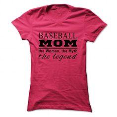 Legend baseball mom T Shirts, Hoodies, Sweatshirts. GET ONE ==> https://www.sunfrog.com/LifeStyle/Legend-baseball-mom-2689-HotPink-26554415-Ladies.html?41382