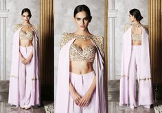 Have a limited budget? But want to buy a desigenr lehenga? Check out the list super-affordable bridal lehenga brands in Delhi under a a budget of Eventila Royal Dresses, Indian Dresses, Indian Outfits, Lakme Fashion Week, India Fashion, Sharara Designs, Bollywood Outfits, Cocktail Outfit, Bridal Outfits