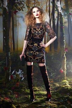 Alice and Olivia Fairy tale collection Cross over and Embrace the Dark Side of Your Romance - Be Modish #BeModish #fashion