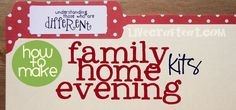 Follow this simple guide to start making your own family home evening kits and download this kit with printables on celebrating differences.