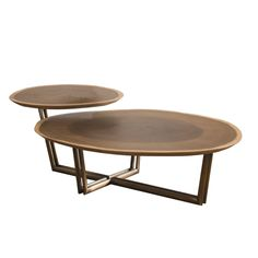 Coffee Table Bx 4 Cf01 2 T Contemporary, Metal, Wood, Coffee Cocktail Table by Keir Townsend Interiors Ltd