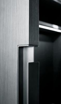 The best Door Pulls to enrich your modern designs. Detail Architecture, Interior Architecture, Interior Design, Interior Door, Sliding Door Handles, Sliding Doors, Door Pulls, Door Design, House Design