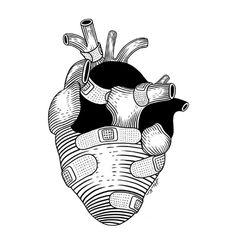 The strongest hearts have the most scars Framed Art Print by Henn Kim - Vector Black - MEDIUM Art And Illustration, Illustrations, Henn Kim, Anatomical Heart, Anatomy Art, Heart Art, Framed Art Prints, Art Inspo, Line Art