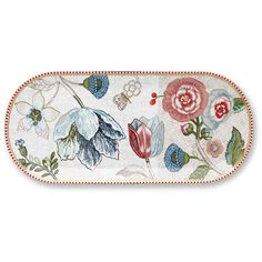 Pip Studio Spring To Life Rectangular Cake Tray - Cream ($29) ❤ liked on Polyvore featuring home, kitchen & dining, serveware, cream, rectangle tray, pip studio, cake plate, rectangular tray and porcelain cake plate