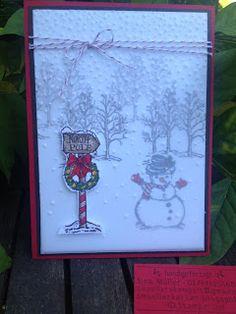 """Schneemann im Schneegestöber mit dem Stempelset """"Christmas magic"""" von Stampin'Up!"""""""