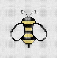 For a possible future project. Bumble Bee Cross Stitch (Printable PDF Pattern) Cute / Insect / Outdoors / Baby. $1.00, via Etsy.