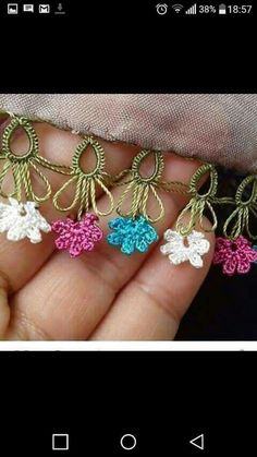 This Pin was discovered by HUZ Crochet Edging Patterns, Crochet Borders, Tatting Patterns, Crochet Motif, Crochet Designs, Crochet Stitches, Knit Crochet, Needle Tatting, Tatting Lace