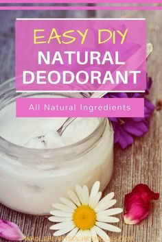 Looking for a natural alternative to the deodorants filled with not so nice chemicals? Learn how to make homemade natural deodorant here.