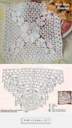 Transcendent Crochet a Solid Granny Square Ideas. Inconceivable Crochet a Solid Granny Square Ideas. Crochet Motifs, Crochet Blocks, Granny Square Crochet Pattern, Crochet Diagram, Crochet Chart, Crochet Squares, Thread Crochet, Filet Crochet, Crochet Doilies