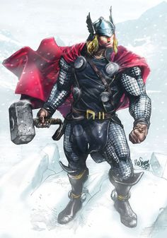 super-hero-center:    Thor sketch - Colors by me Jan. 2013 by ~NormanWong
