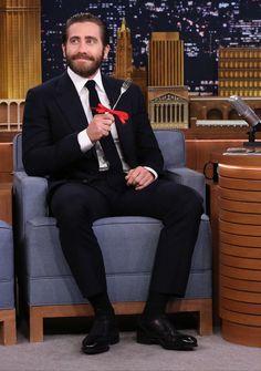 Jake Gyllenhaal en 2015 sur le plateau de Jimmy Fallon