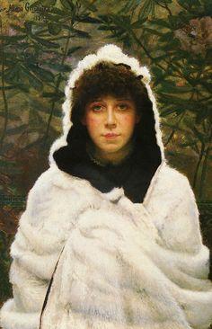 John Atkinson Grimshaw (British: 1836 – 1893) was a Victorian-era artist | Snowbound