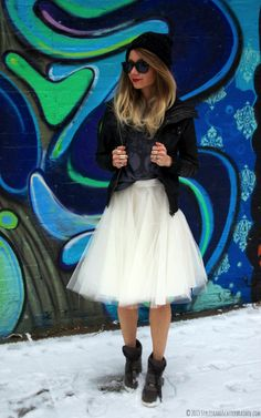7 Creative Ways to Dress Up a Pair of Sneakers | http://www.hercampus.com/style/7-creative-ways-dress-pair-sneakers | Sneakers with Tutu