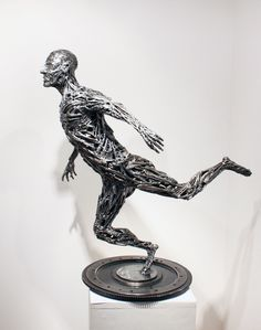 'Figure Study' Recycled Steel Sculpture by Carl Sean McMahon