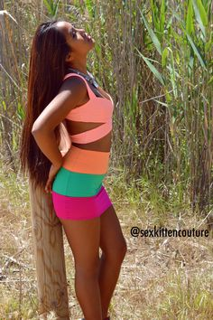 3 Tone Neon by SexKittenCouture
