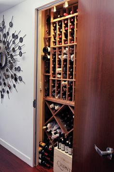 no room for a wine cellar? put one in a closet.