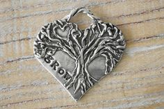 Artisan  antique silver colored pewter tree pendant by loveyluxe Tree Pendant, Boho Designs, Silver Color, Pewter, Antique Silver, Artisan, Reusable Tote Bags, Trees, Bling
