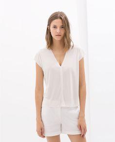 Image 1 of V-NECK T-SHIRT from Zara