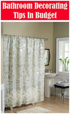 Decorating Tips for the Bathroom Decorating Basics, Ideal Bathrooms, Bathroom Makeover, Decorating On A Budget, Professional Decor, Shower Curtain Decor, Elegant Mirrors, Curtain Decor, Bathroom Decor