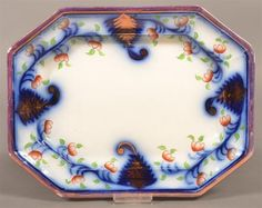 Gaudy Ironstone China Fern Leaf Pattern Platter. 9-3/4 x 12-1/2 . Condition: Very good.