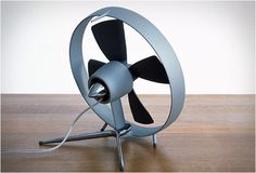 Clean and simple design that has a smidged of personality to it. That's what I like. It has almost taken it too far... into the sterile range, but only almost.    Propello desk fan $140.
